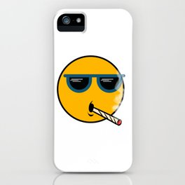 """A Cool Thug Life Tee For Gangster """"Smiley Smoking Cigarette"""" T-shirt Design Cigar Smoker Dope Swag iPhone Case"""