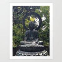 Photograph Contemplating Buddha Art Print