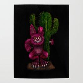 Desert Bunny Poster