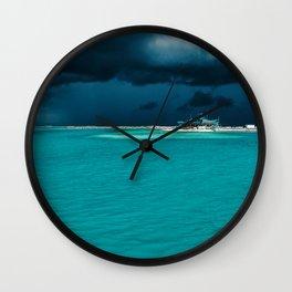 Maldivian storm 2 Wall Clock