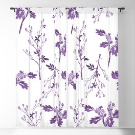 Watercolor Purple Berry Pattern Blackout Curtain