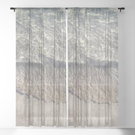 Water Photography Shoreline Sheer Curtain