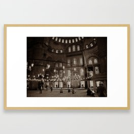 """Inside Sultan Ahmed Mosque (""""Blue Mosque"""", Istanbul, TURKEY) Framed Art Print"""