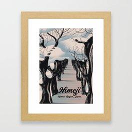 Himeji,  Kansai region Japanese Blossom trees Framed Art Print