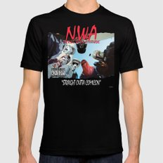 N.W.A (Nerds With Attitude) Straight Outta Comicon Mens Fitted Tee Black MEDIUM