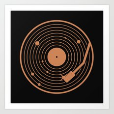 The Vinyl System Art Print