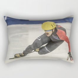 Charles Hamelin, Olympic Champion, Official Action Photo Rectangular Pillow