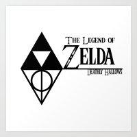 The Legend of Zelda Deathly Hallows Art Print