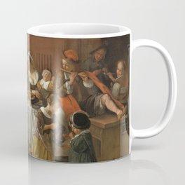 The cheerful family, Jan Havicksz. Steen, 1668. Music reunion. Coffee Mug