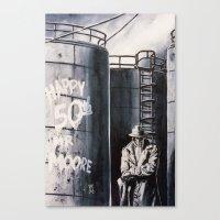 rorschach Canvas Prints featuring Rorschach by kenmeyerjr