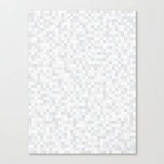 White Cubism Canvas Print