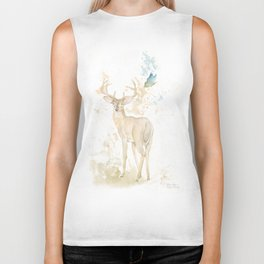 Deer and butterfly Biker Tank