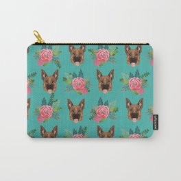 German Shepherd florals bouquet dog breed pet friendly pattern dogs Carry-All Pouch