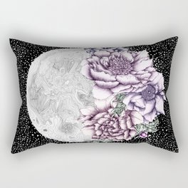 Moon Abloom II Rectangular Pillow