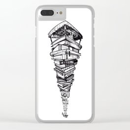 Princess and the books Clear iPhone Case