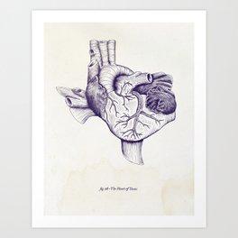 The Heart of Texas (TCU) Art Print