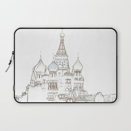 Saint Basil's Cathedral (on white) Laptop Sleeve