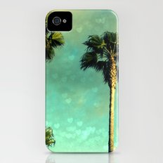Palm Trees Heart Bokeh Slim Case iPhone (4, 4s)