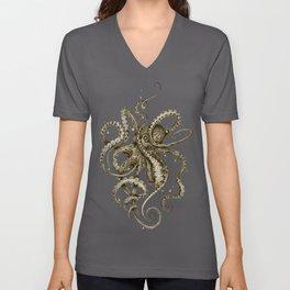 Octopsychedelia Sepia Unisex V-Ausschnitt