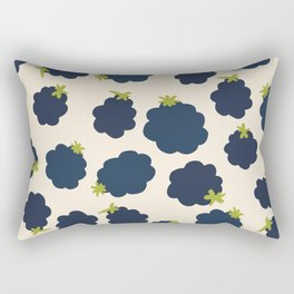 Blackberries Modern Summer Fruit Pattern Rectangular Pillow