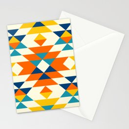 Native American colorful traditional navajo pattern Stationery Cards