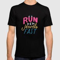 Run Dem Jewels Mens Fitted Tee MEDIUM Black
