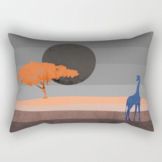 Giraffe , you are not alone Rectangular Pillow