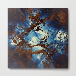 Sapphire and opal colors in an abstract pattern Metal Print