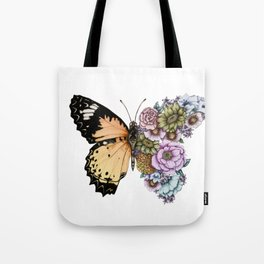 Butterfly in Bloom II Tote Bag