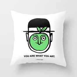 You Are What You Art Throw Pillow