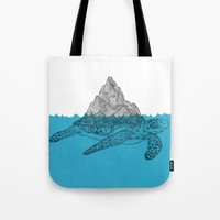 turtle Tote Bags featuring Turtle by David Penela