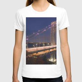 Famous George Washington Bridge Hudson River New York City USA Nightlife Ultra HD T-shirt