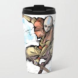 Aang from Avatar the Last Airbender sumi/watercolor Travel Mug