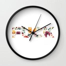 Flowery Language: FUCK Wall Clock