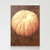 pumpkin Stationery Cards featuring Pumpkin by Yellowstone Photo Studio