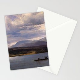 Overlook Mountain From Olana By Albert Bierstadt | Reproduction Painting Stationery Cards