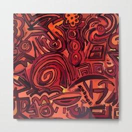 Red simbols Metal Print