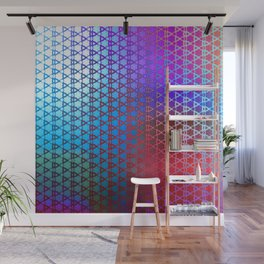 Groovy Retro Pattern (purple-red-turquoise) Wall Mural