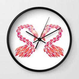 Miami Flamingo – Pink Ombré Wall Clock