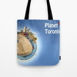 Planet Toronto Wall Paper Tote Bag