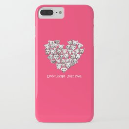 Just Love. (white text) iPhone Case