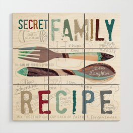 Secret Family Recipe Wood Wall Art