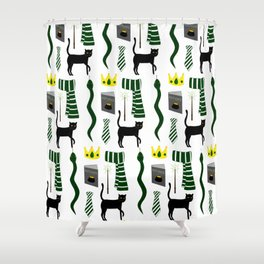 The House of Slytherin Pattern Shower Curtain