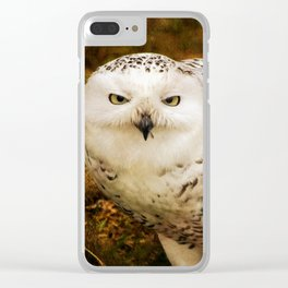 Look Deep Into Nature - Owl Art Clear iPhone Case