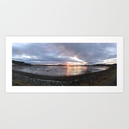Panoramic Sunset on the Cove Art Print