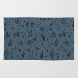 Wild Cosmos, Denim Blue Rug