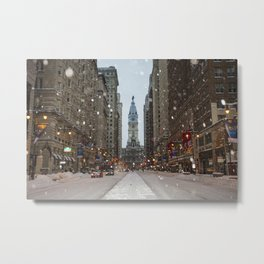 Snow, Philadelphia Metal Print