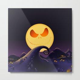 Starry Night Jack Skellington Metal Print