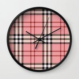 pinkgucii pattern Wall Clock