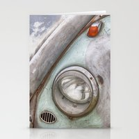 vw Stationery Cards featuring VW Beetle by David Turner